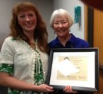 Lampman Chair Esther Moberg with Honoree Nell Colburn